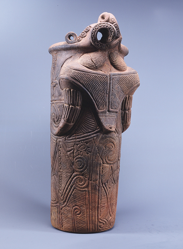【土器】富士見町・藤内遺跡出土の神像筒形土器【井戸尻考古館】