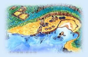 水場遺構の想定図