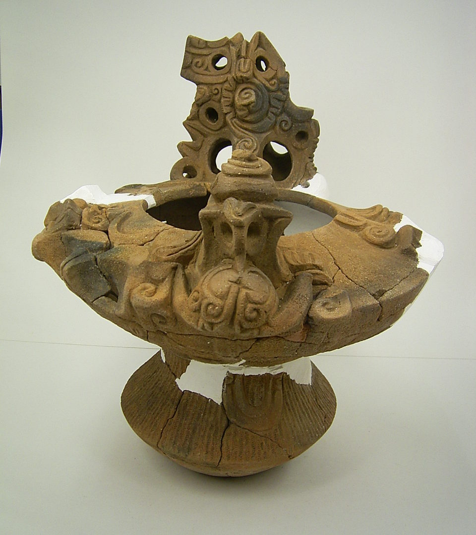 【土器】甲州市・天神堂遺跡 蛇体突起付深鉢